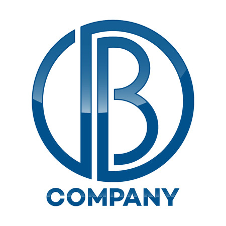 db: DB company linked letter icon Illustration