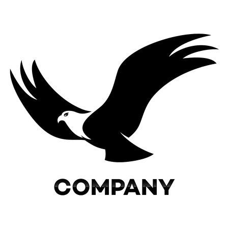 eagle flying: flying eagle icon Illustration