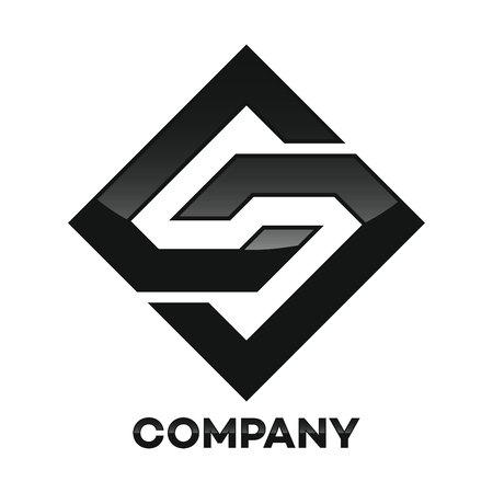 cs: Diamond and CS company linked letter icon Illustration