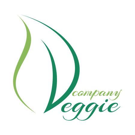 vegetarianism: Leaf and vegetarianism icon