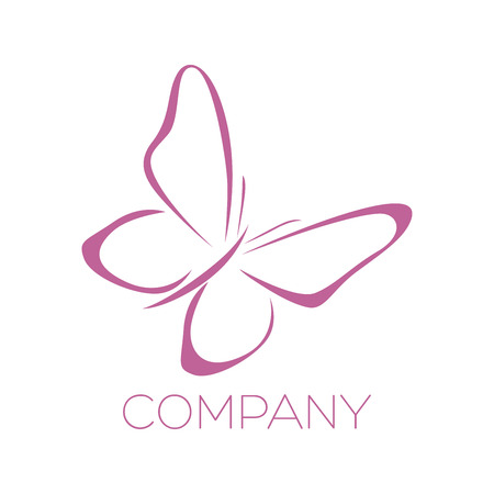 antennae: Pink butterfly icon