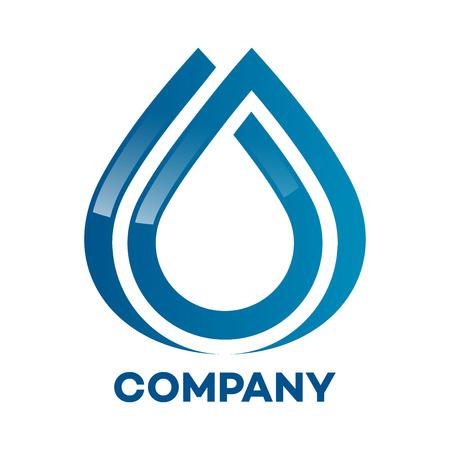 destilacion: Una gota de agua limpia icono Vectores