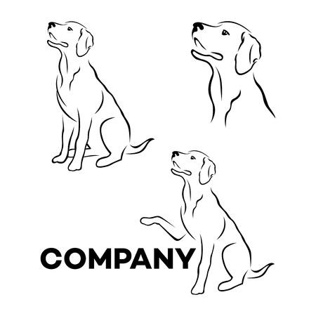 Icono de Labrador raza de perro Ilustración de vector