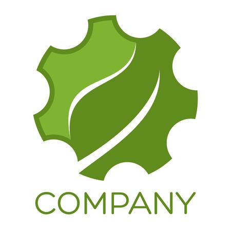 Gear with leaf icon