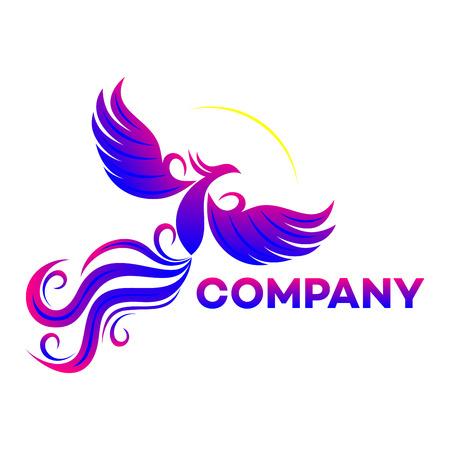 mythical phoenix bird: phoenix icon Illustration