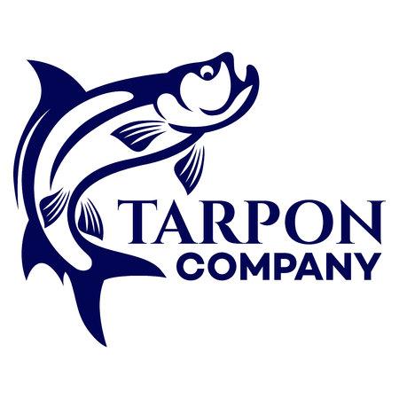 Tarpon emblem vector Illustration