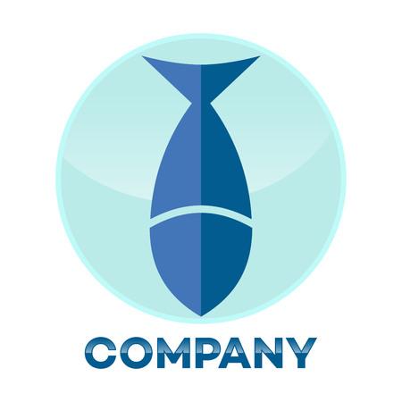 Fish and shield logo