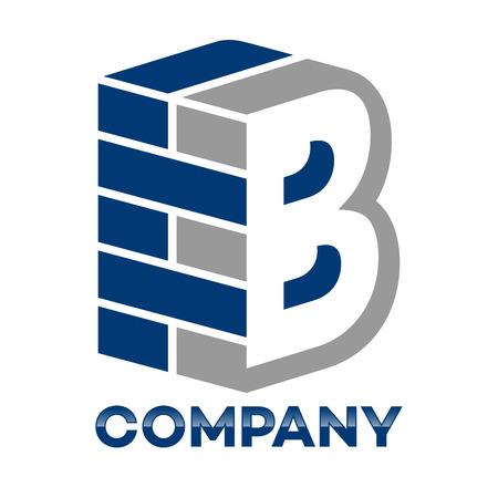 Ziegelmauer und Buchstabe B-Logo Standard-Bild - 84873621