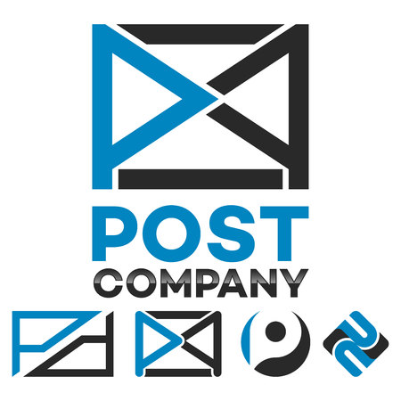 Mail and letter P logo