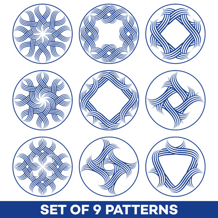 A set of 9 patterns