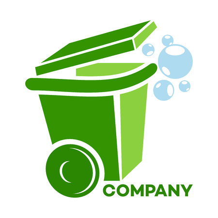 garbage container logo Illustration
