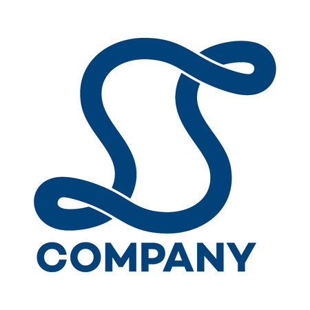 S company linked letter logo Banco de Imagens - 89096089