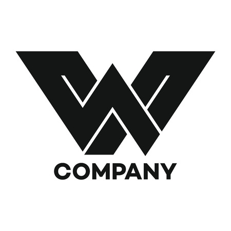 W company linked letter logo