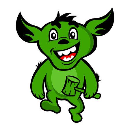 gremlin mascot vector illustration Illustration