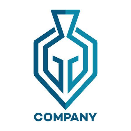 helmet in shield logo