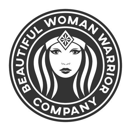 Beautiful warrior woman icon.