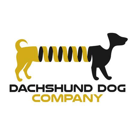 Dog Dachshund Spring Logo