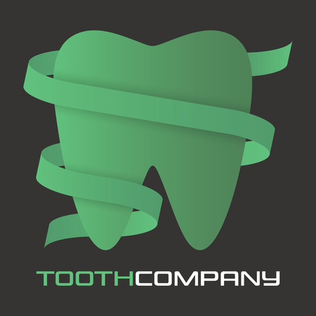 Modern tooth symbol icon design.