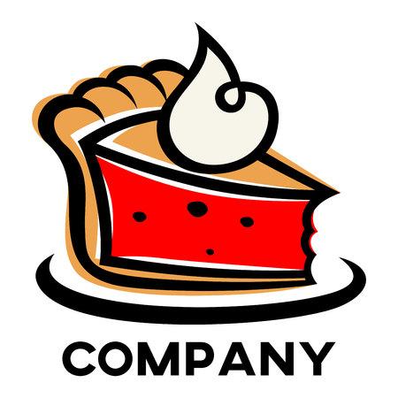 Piece of cake symbol icon design.