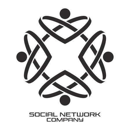 Social network from a solid line