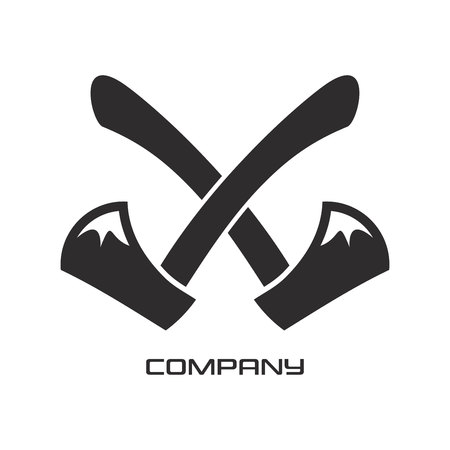 Crossed out axes icon Illustration