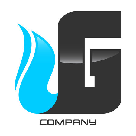 Natural Gas And Letter G Logo Royalty Free Cliparts Vectors And