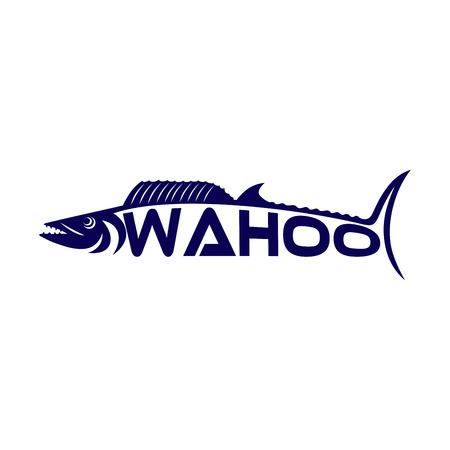 Modern fish Wahoo Vectores