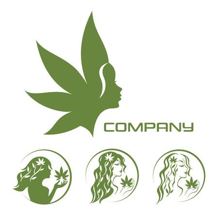 Déesse de la terre et du cannabis Vecteurs
