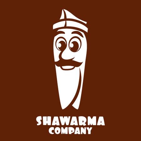 Cartoon character shawarma logo