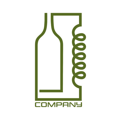 Distiller and bottle logo