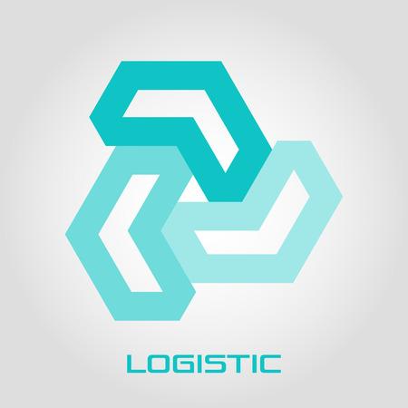 Abstract logo logistics and letter L Standard-Bild - 119848413