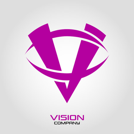 Abstract logo vision and letter V