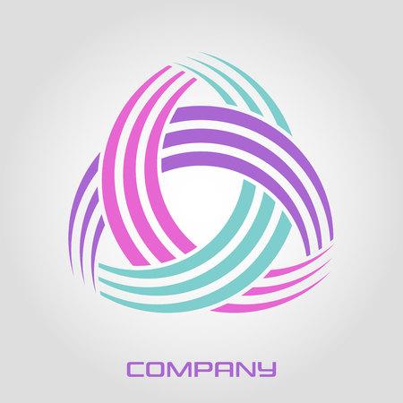 Abstract triangle line logo Standard-Bild - 119848419