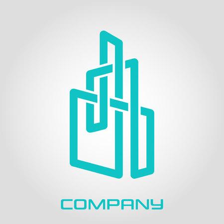 Logo Real Estate from a solid line Standard-Bild - 119848420