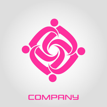 Abstract round shape logo Illustration