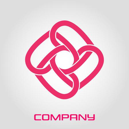 Abstract round shape logo Standard-Bild - 119848426