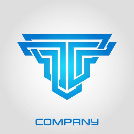 Solid line letter T logo Standard-Bild - 119848428