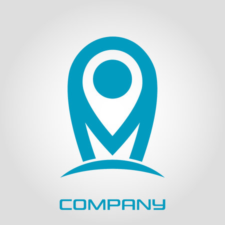Modern logo map and letter M Standard-Bild - 119848429