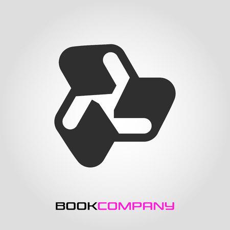 Modern logo book and abstract figure Standard-Bild - 119848433