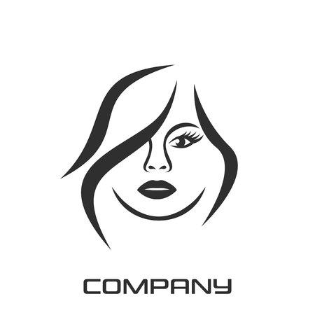 Beautiful female face and beauty of the logo Standard-Bild - 119848370