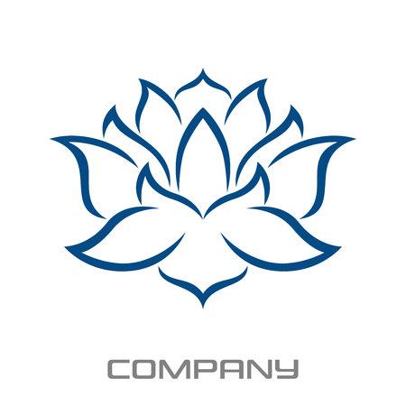 Yoga and lotus logo Standard-Bild - 119848376