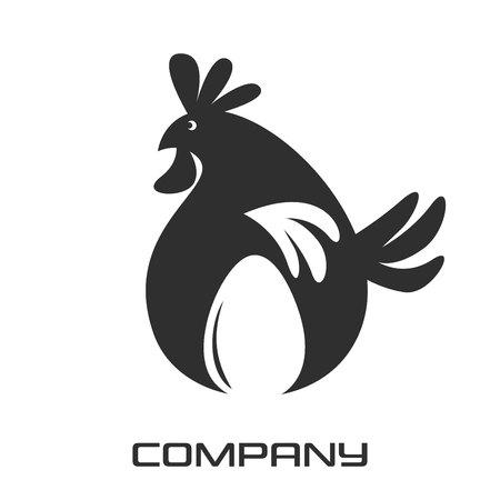 Egg and chicken logo Standard-Bild - 119848380