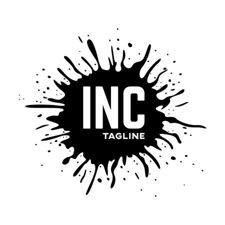 Silhouette ink logo drop Standard-Bild - 119848382
