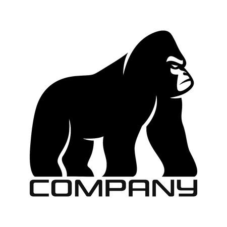 Silhouette of gorilla logo Standard-Bild - 119848386