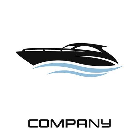 Modern luxury yacht logo Standard-Bild - 119848387