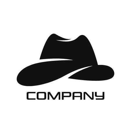 Modern cowboy hat logo Standard-Bild - 119848388