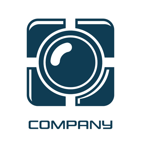 Modern photo camera logo Standard-Bild - 119848394
