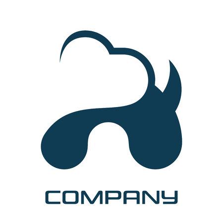 Logotipo de perro y corazón Logos
