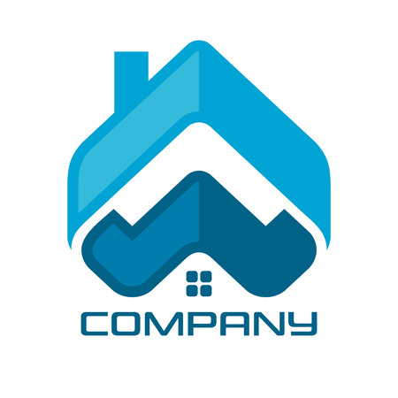 Real Estate & Web & Letter w Logo Standard-Bild - 119848397