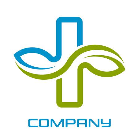 Modern medical logo Standard-Bild - 119848346